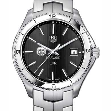 Harvard TAG Heuer Men's Link Watch with Black Dial
