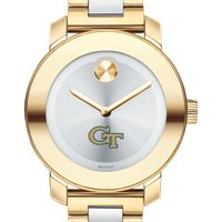 Georgia Tech Women's Movado Two-Tone Bold