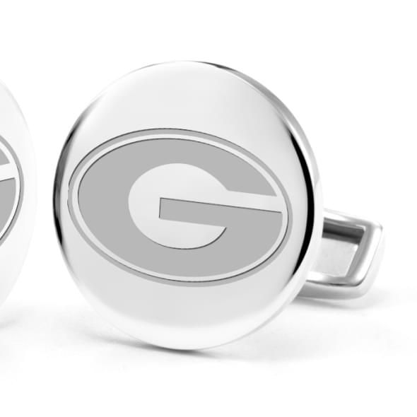 University of Georgia Cufflinks in Sterling Silver - Image 2
