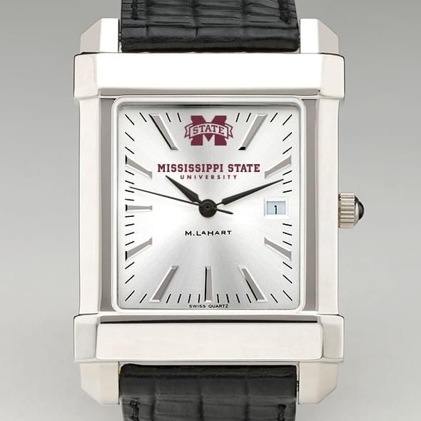 Mississippi State Men's Collegiate Watch with Leather Strap - Image 1