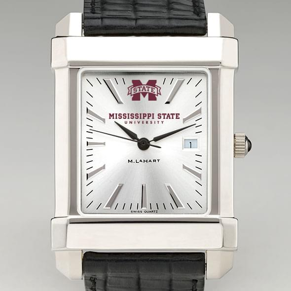 Mississippi State Men's Collegiate Watch with Leather Strap