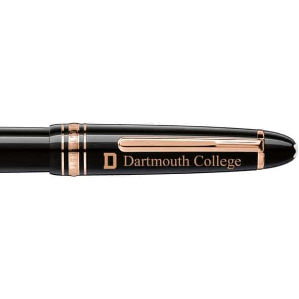 Dartmouth College Montblanc Meisterstück LeGrand Rollerball Pen in Red Gold - Image 2