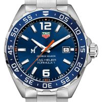George Mason University Men's TAG Heuer Formula 1 with Blue Dial & Bezel