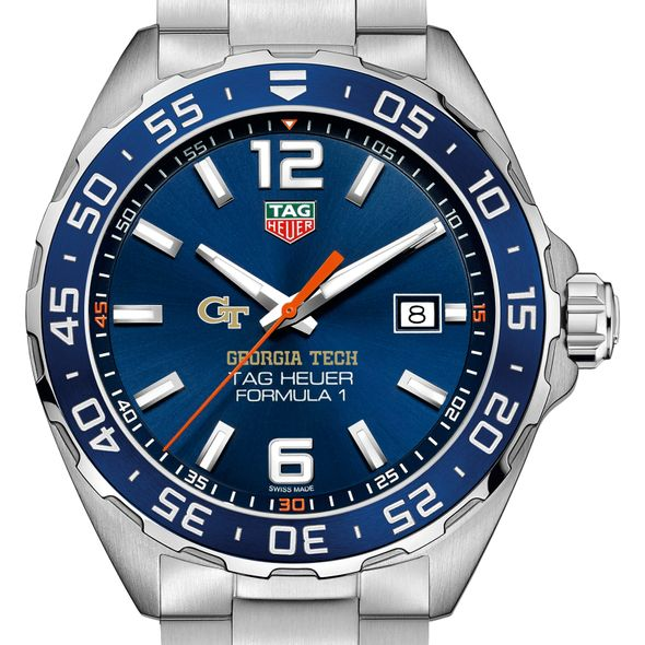 Georgia Tech Men's TAG Heuer Formula 1 with Blue Dial & Bezel