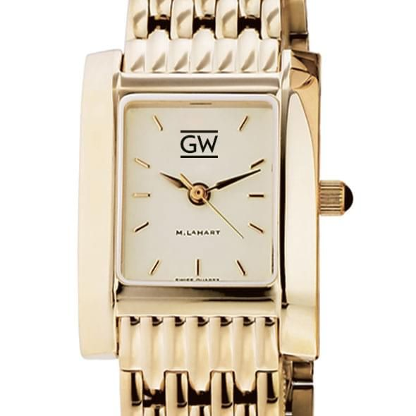 George Washington Women's Gold Quad with Bracelet