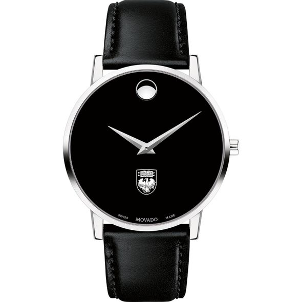 University of Chicago Men's Movado Museum with Leather Strap - Image 2