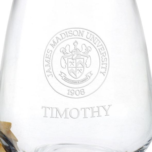 James Madison University Stemless Wine Glasses - Set of 2 - Image 3