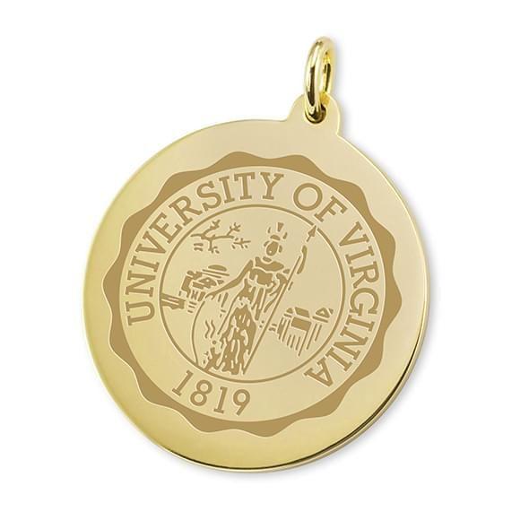 UVA 14K Gold Charm