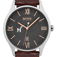George Mason University Men's BOSS Classic with Leather Strap from M.LaHart