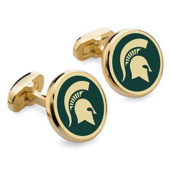 Michigan State University Enamel Cufflinks