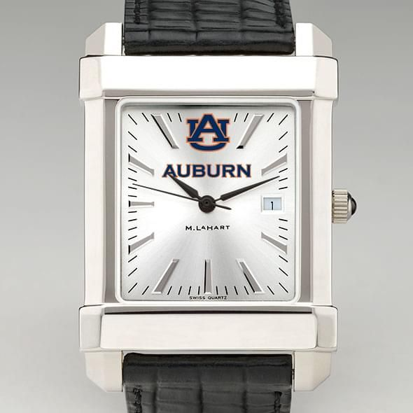 Auburn Men's Collegiate Watch with Leather Strap
