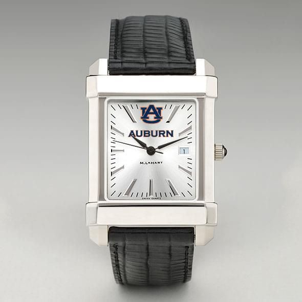Auburn Men's Collegiate Watch with Leather Strap - Image 2