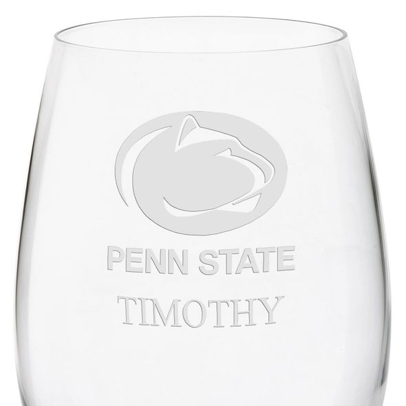 Penn State Red Wine Glasses - Set of 4 - Image 3