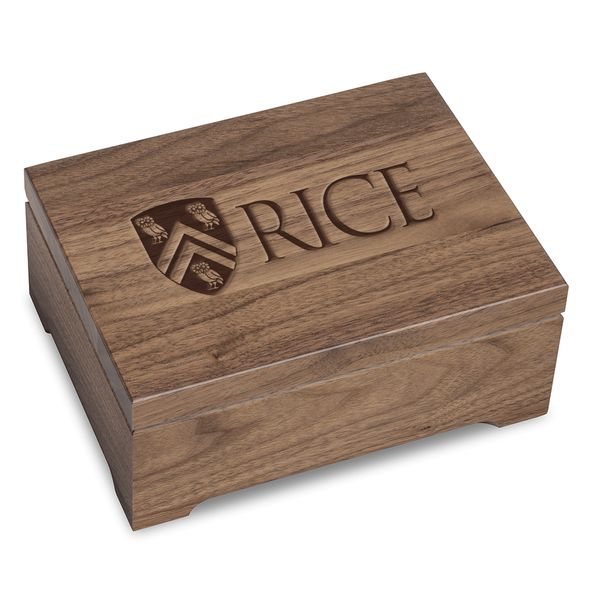 Rice University Solid Walnut Desk Box