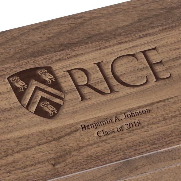 Rice University Solid Walnut Desk Box - Image 3