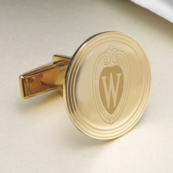 Wisconsin 14K Gold Cufflinks - Image 2