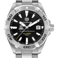 University of Arizona Men's TAG Heuer Steel Aquaracer with Black Dial