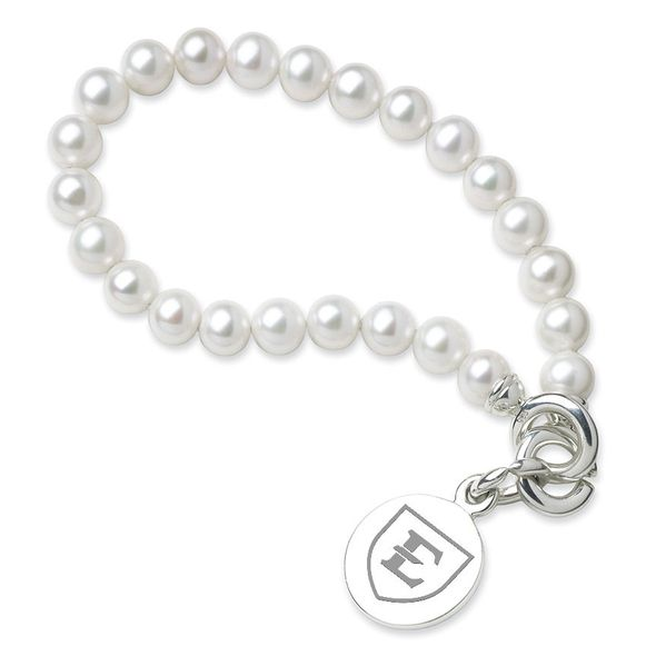 East Tennessee State University Pearl Bracelet with Sterling Silver Charm