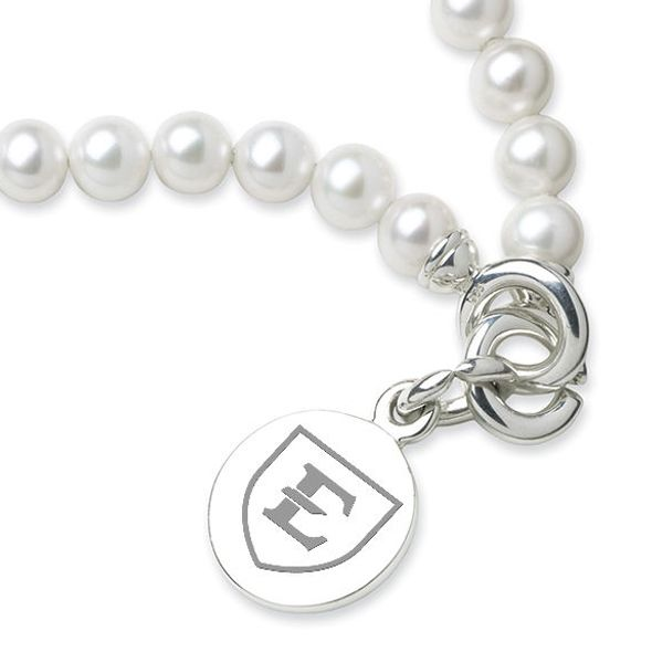 East Tennessee State University Pearl Bracelet with Sterling Silver Charm - Image 2