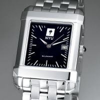 NYU Men's Black Quad Watch with Bracelet