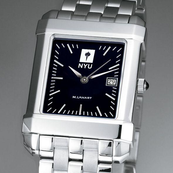 NYU Men's Black Quad Watch with Bracelet