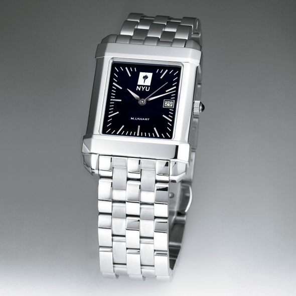 NYU Men's Black Quad Watch with Bracelet - Image 2