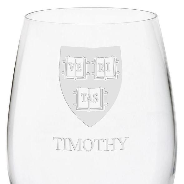 Harvard University Red Wine Glasses - Set of 4 - Image 3