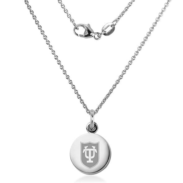Tulane University Necklace with Charm in Sterling Silver - Image 2