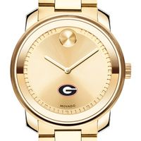 University of Georgia Men's Movado Gold Bold