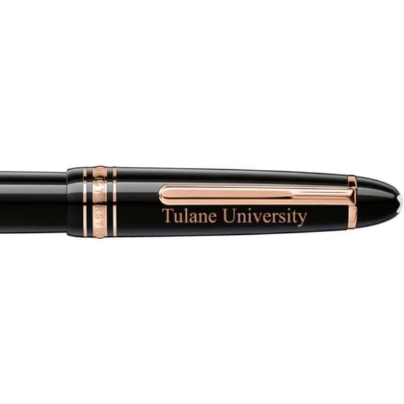 Tulane University Montblanc Meisterstück LeGrand Rollerball Pen in Red Gold - Image 2