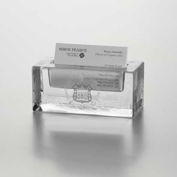 Trinity College Glass Business Cardholder by Simon Pearce - Image 1