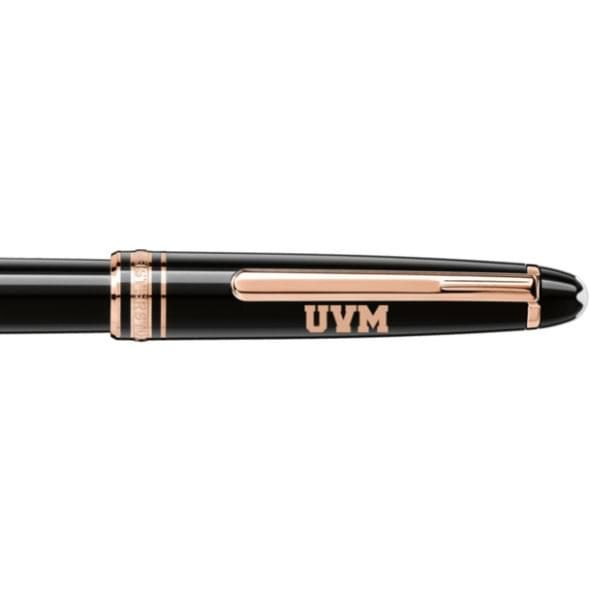 University of Vermont Montblanc Meisterstück Classique Rollerball Pen in Red Gold - Image 2