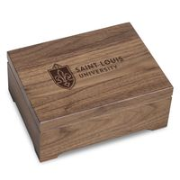 Saint Louis University Solid Walnut Desk Box