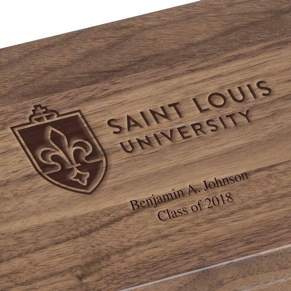 Saint Louis University Solid Walnut Desk Box - Image 3