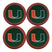 University of Miami Needlepoint Coasters