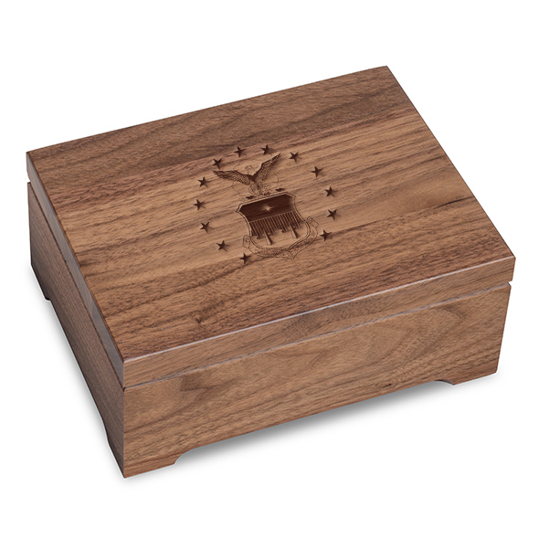 US Air Force Academy Solid Walnut Desk Box - Image 1