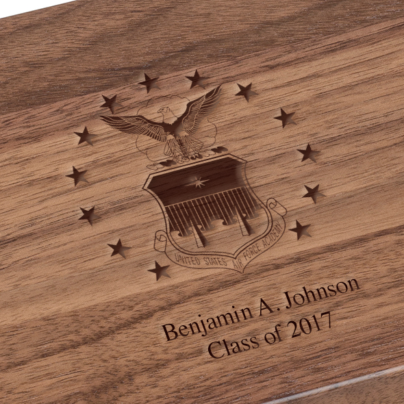 US Air Force Academy Solid Walnut Desk Box - Image 3