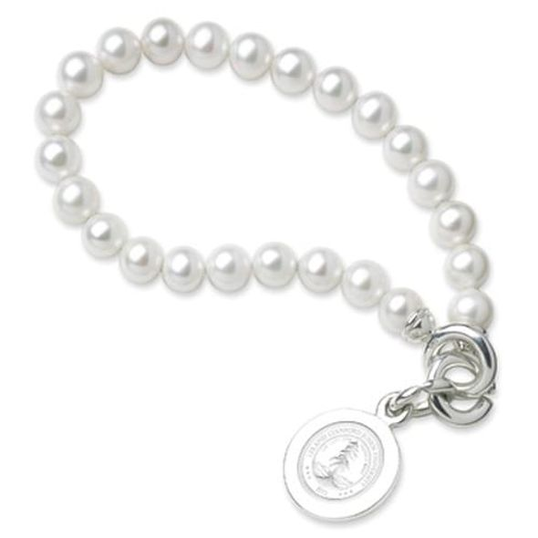Stanford Pearl Bracelet with Sterling Silver Charm