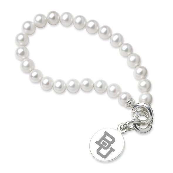 Baylor Pearl Bracelet with Sterling Silver Charm