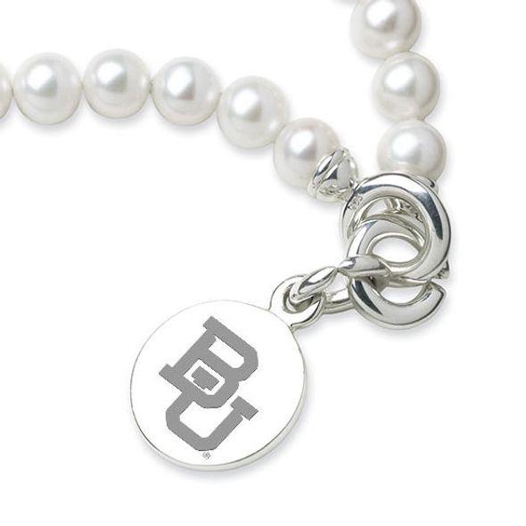 Baylor Pearl Bracelet with Sterling Silver Charm - Image 2