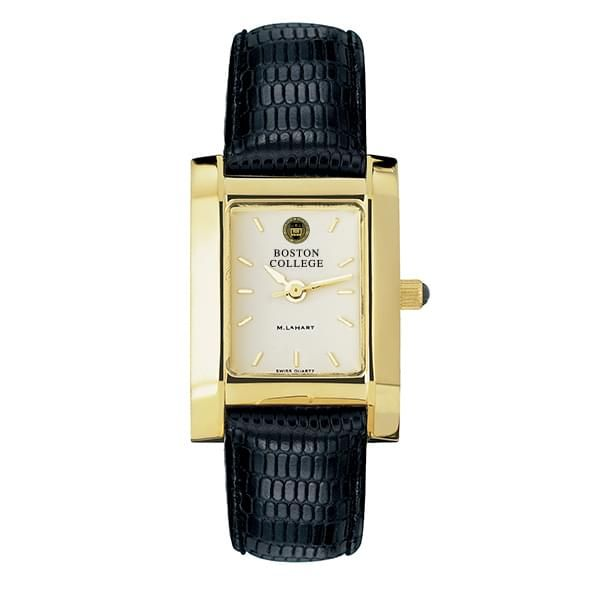 Boston College Women's Gold Quad Watch with Leather Strap - Image 2
