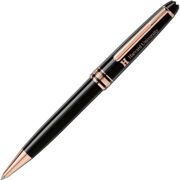 Harvard University Montblanc Meisterstück Classique Ballpoint Pen in Red Gold