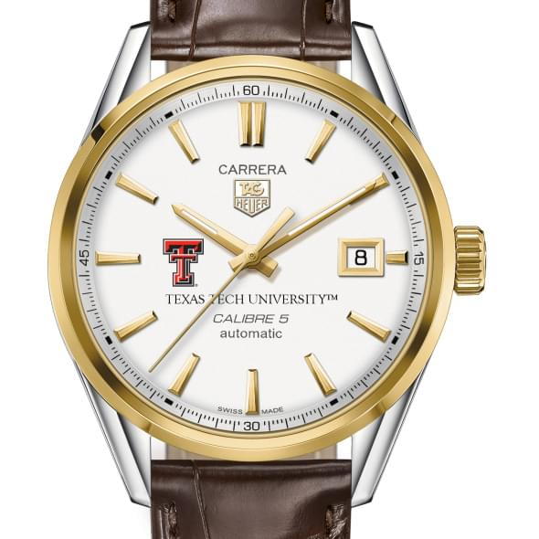 Texas Tech Men's TAG Heuer Two-Tone Carrera with Strap