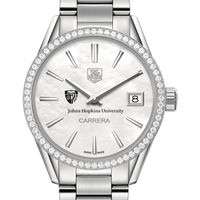 Johns Hopkins Women's TAG Heuer Steel Carrera with MOP Dial & Diamond Bezel