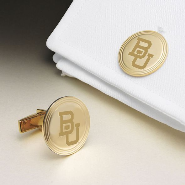 Baylor 14K Gold Cufflinks
