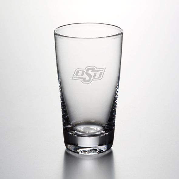 Oklahoma State University Ascutney Pint Glass by Simon Pearce - Image 1