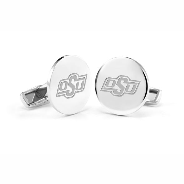 Oklahoma State University Cufflinks in Sterling Silver