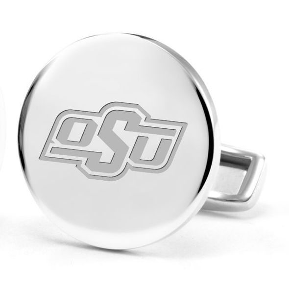Oklahoma State University Cufflinks in Sterling Silver - Image 2