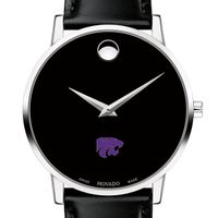 Kansas State University Men's Movado Museum with Leather Strap
