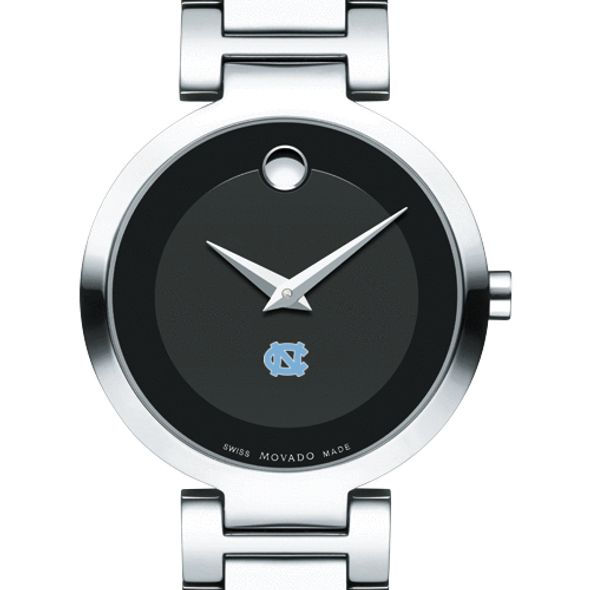 University of North Carolina Women's Movado Museum with Steel Bracelet